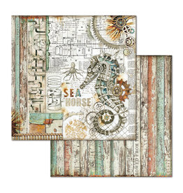 Stamperia Double Face Paper Sea World seahorse