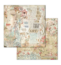 Stamperia Double Face Paper Love Art face