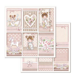 Stamperia Double Face Paper Little Girl Frames