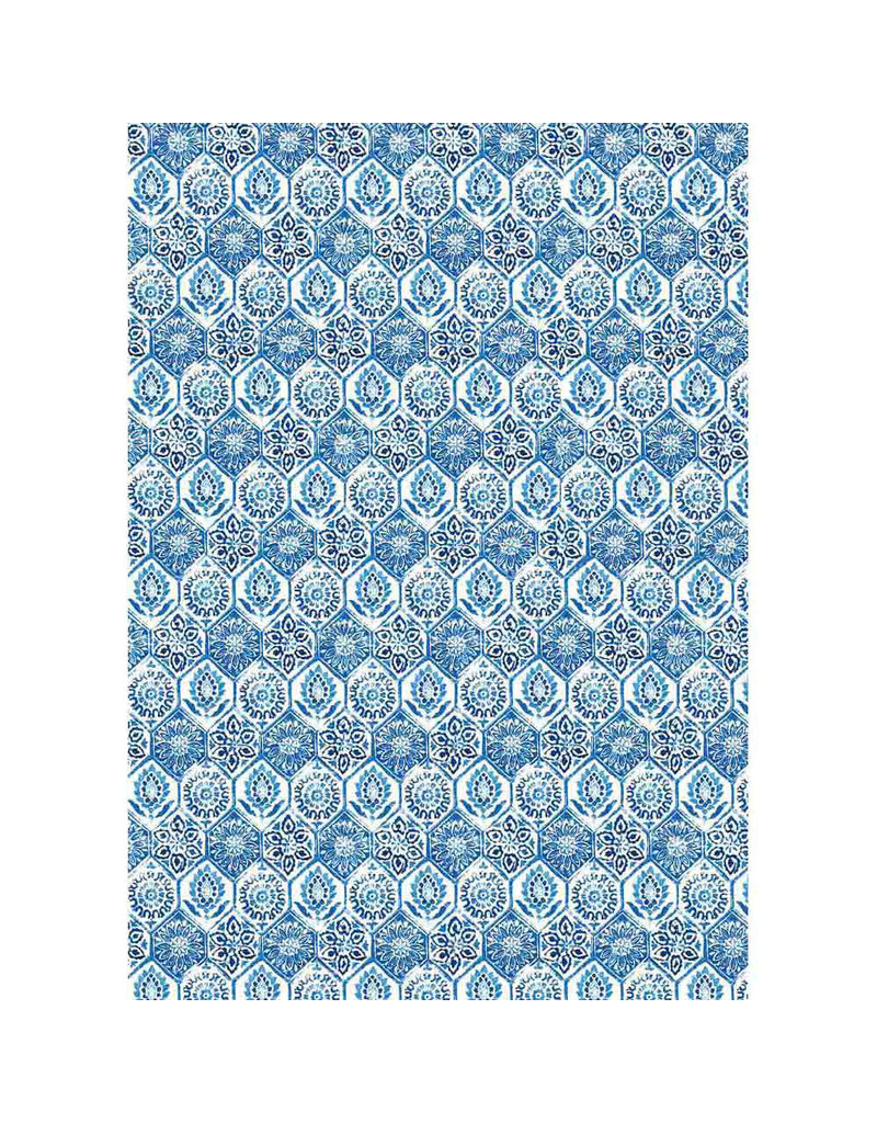 Stamperia A3 Rice paper packed Blue tile