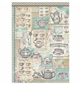 Stamperia A3 Rice paper packed Tea Time
