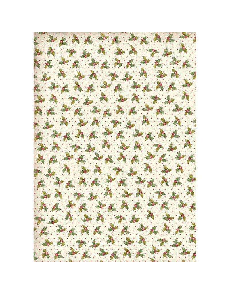 Stamperia A4 Rice paper packed Christmas vintage holly