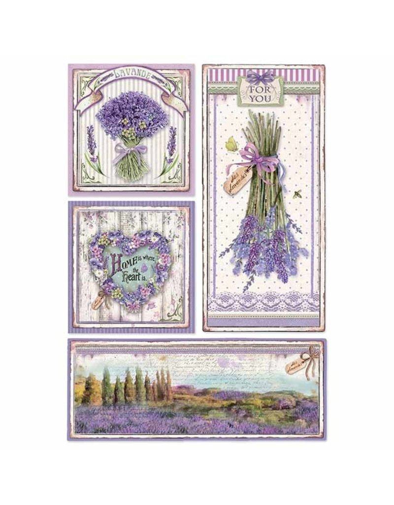 Stamperia A4 Rice paper packed Provence frames