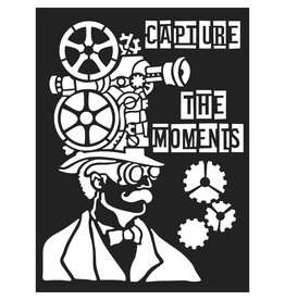 Stamperia Thick stencil cm. 15x20 Capture the moment