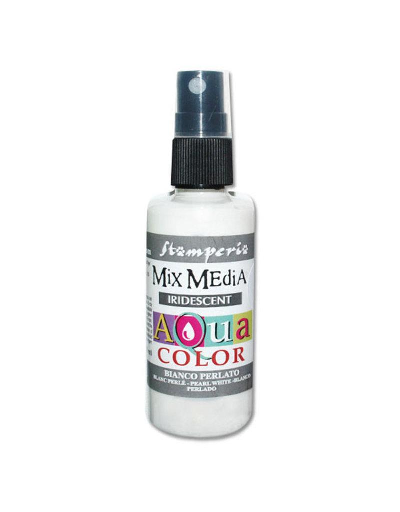 Stamperia 300 Aquacolor spray 60ml. - Pearl White