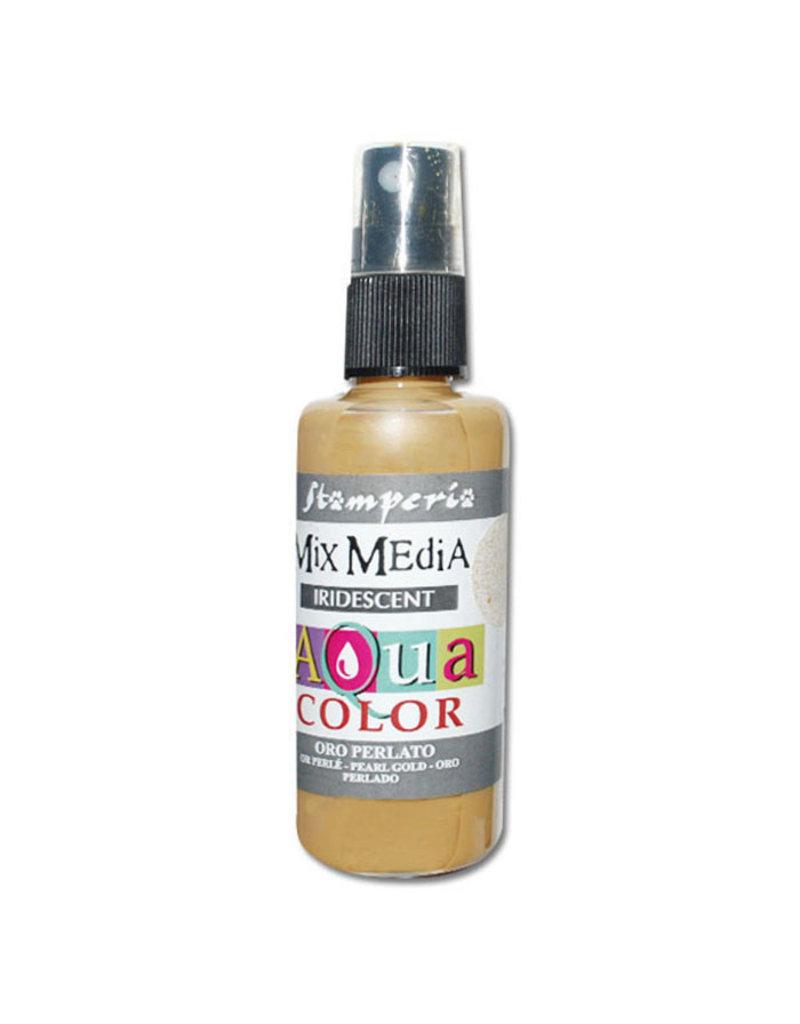 Stamperia 315 Aquacolor spray 60ml. - Pearl gold