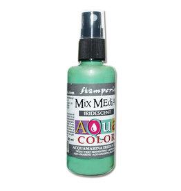 Stamperia 313 Aquacolor spray 60ml. - Iridescent acquamarine
