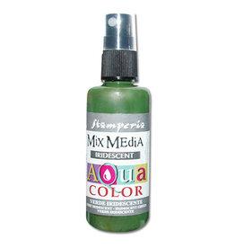 Stamperia 312 Aquacolor spray 60ml. - Iridescent Green