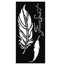 Stamperia Thick stencil cm. 12x25 Feathers