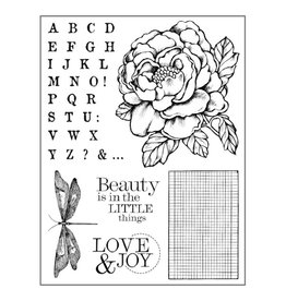 Stamperia HD Natural Rubber Stamp cm.14x18 Peony