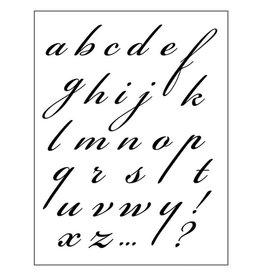 Stamperia HD Natural Rubber Stamp cm 14x18 Italic Alphabet
