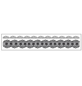 Stamperia HD Natural Rubber Stamp cm 4x18 Laces