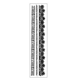 Stamperia HD Natural Rubber Stamp cm. 4x18 Wires and Laces