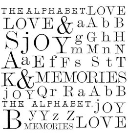 Stamperia HD Natural Rubber Stamp cm. 10x10 Words