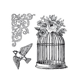 Stamperia HD Natural Rubber Stamp cm.10x10 Cage