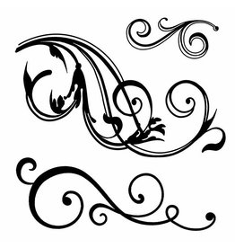 Stamperia HD Natural Rubber Stamp cm. 10x10 Wriggling waves