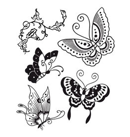 Stamperia HD Natural Rubber Stamp cm. 14x18 Butterfly