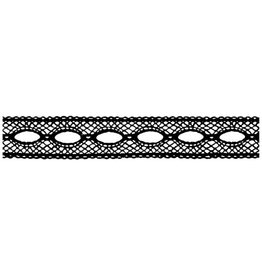 Stamperia HD Natural Rubber Stamp cm. 4x18 Lace with hole
