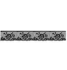 Stamperia HD Natural Rubber Stamp cm. 4x18 Lace with roese