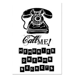 Stamperia HD Natural Rubber Stamp cm. 7x11 - Call me telephone