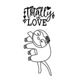 Stamperia Acrylic stamp cm. 4,3x9,7 Totally love