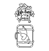 Stamperia Acrylic stamp cm. 4,3x9,7 Suitcase Life Time