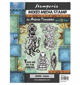 Stamperia Stamp cm. 15x20 Sea World – octupus