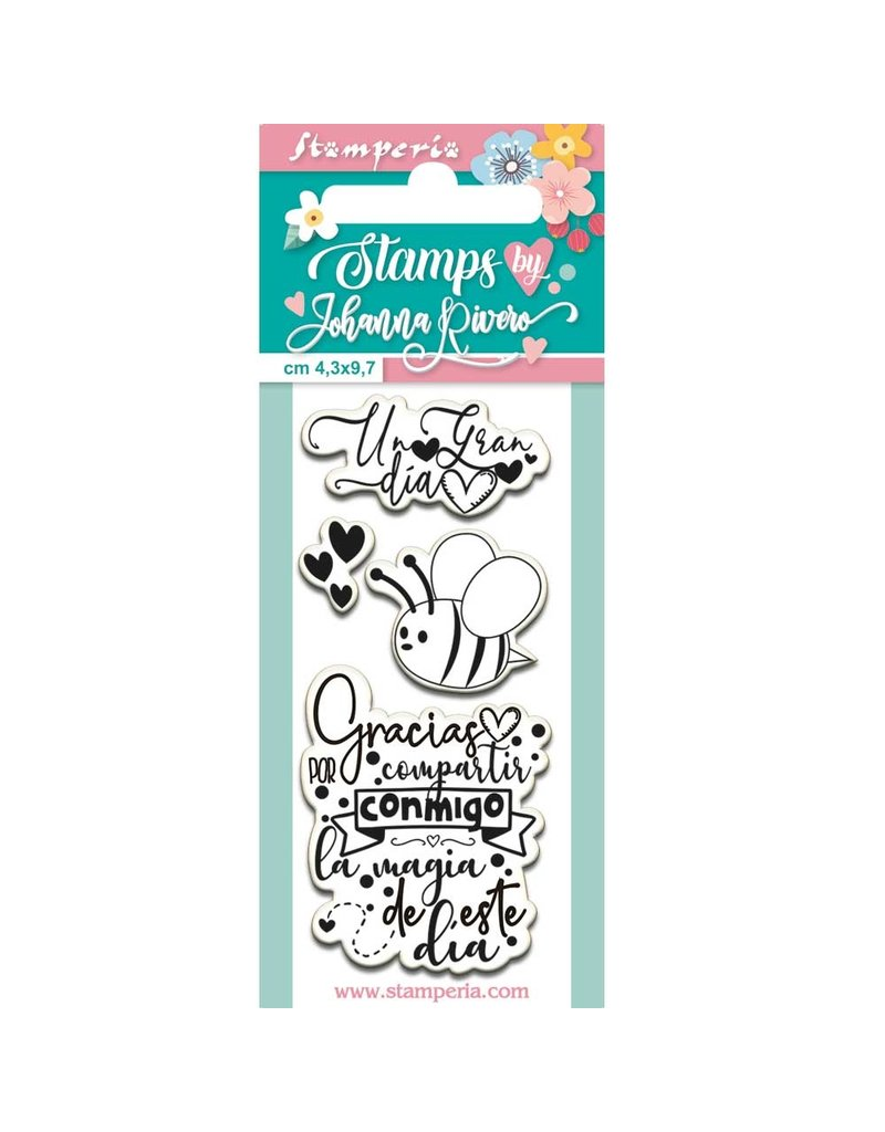 Stamperia Acrylic stamp cm. 4,3x9,7 Bee