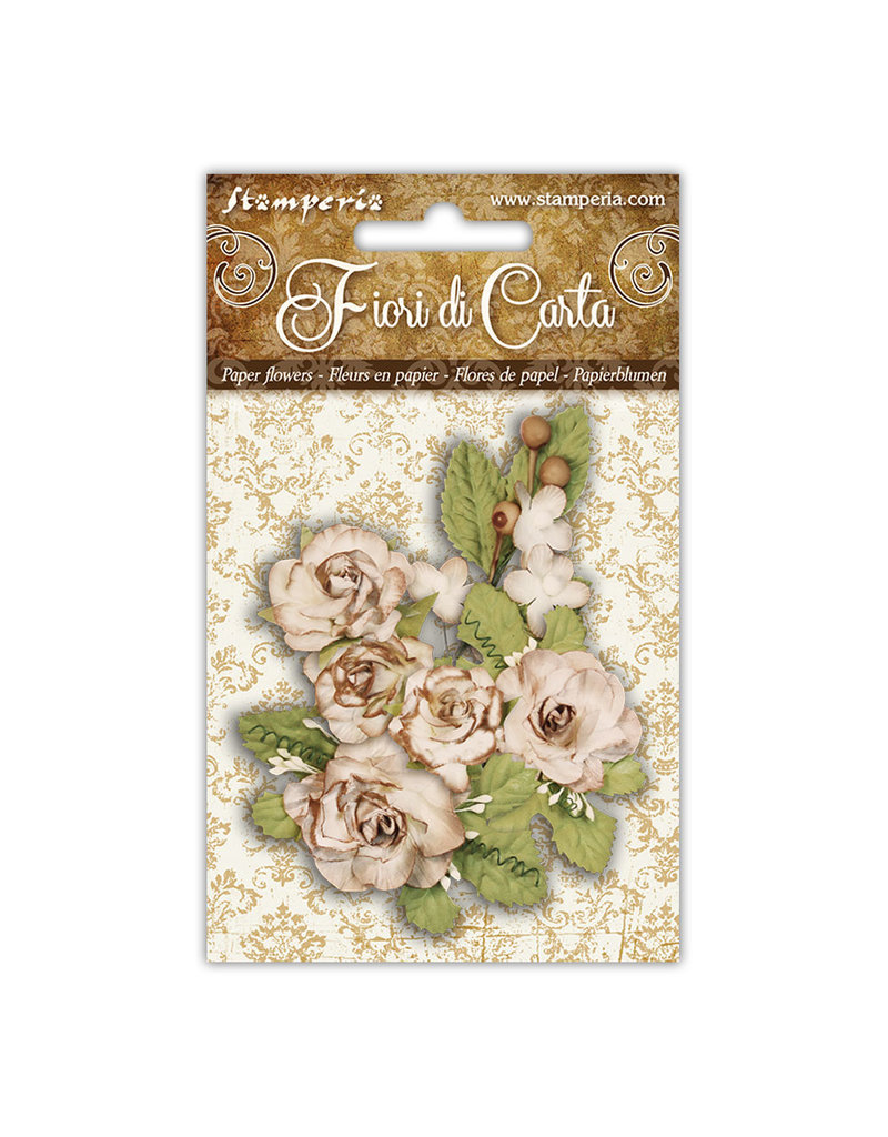 Stamperia Conf. Ivory Roses and foliage