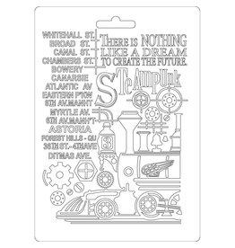Stamperia Soft Mould A5 size Steampunk Train