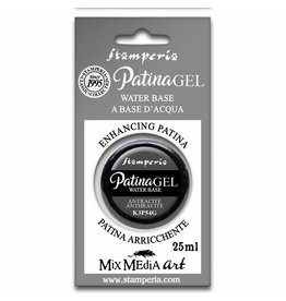 Stamperia Patina Gel in blister 25ml Anthracite