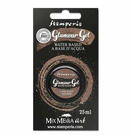 Stamperia Glamour Gel 20 ml. Dark wood