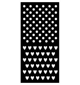 Stamperia Thick stencil cm. 12X25 Polka dots and little hearts