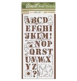 Stamperia Thick Stencil cm. 12X25 Forest Alfabet