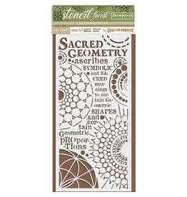 Stamperia Thick Stencil cm. 12X25 Forest sacred geometry