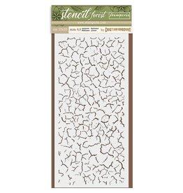 Stamperia Thick Stencil cm. 12X25 Forest Craklé