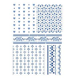 Stamperia Stencil G cm 21x29,7 Texture Cloths