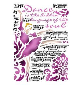 Stamperia Stencil G cm. 21x29,7 Dance