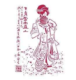 Stamperia Stencil G cm. 21x29,7 Geisha