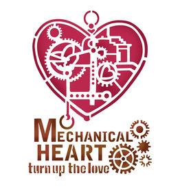 Stamperia Stencil D cm. 20x15 Mechanical Heart