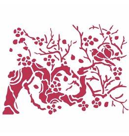 Stamperia Stencil D cm. 20x15 Bird on branch