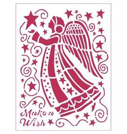 Stamperia Stencil D cm. 20x15 Make a wish Angel