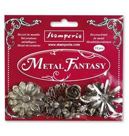 Stamperia Set 18 pcs Metal Fantasy