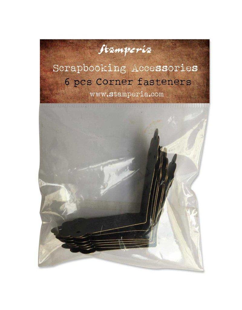 Stamperia Conf. 6 corner fasteners