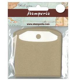 Stamperia Tag with Havana Envelope - big size - 6 pc