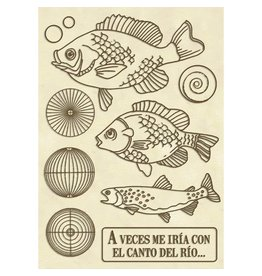 Stamperia Wooden shape A6 - Forest fish