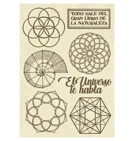 Stamperia Wooden shape A6 - Forest sacred geometry