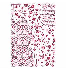 Stamperia Stencil G cm. 21x29,7 Roses and decorations