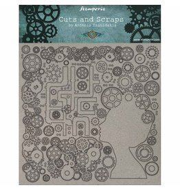 Stamperia Greyboard cm. 30x30/1 mm - Lady and gears