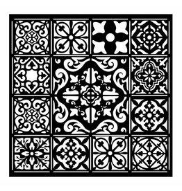 Stamperia Thick stencil cm. 18X18 Azulejos tiles